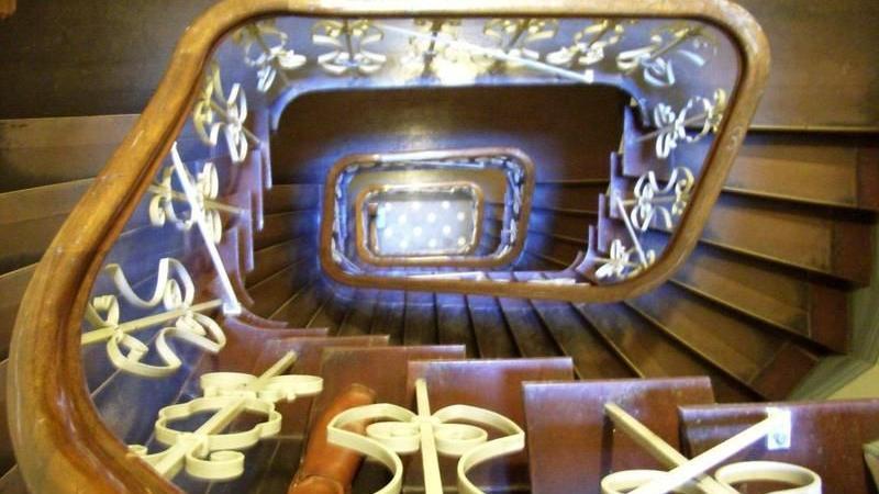 Sanierung einer historischen Treppe in Winterhude